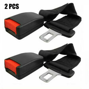 2 Pcs 14 Car Truck Seat Seatbelt Safety Belt Extender Extension 7 8 Buckle