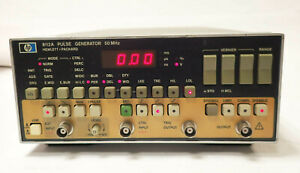 Hp Agilent 8112a Programmable Pulse Generator 50 Mhz 120v Tested Working