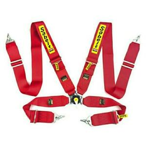 Sabelt Red Universal 3 Inch 4 Point Quick Release Racing Belt Hardness