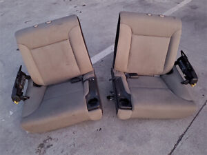 Honda Element 2nd Row Rear Cloth Seats Pair Left Right Used Gray