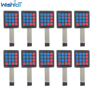10pcs 16 Key 4 4 Membrane Switch Keypad 4x4 Matrix Keyboard Diy Kit For Arduino