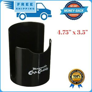 Work Magnetic Cup Caddy Vehicle Black Truck Car Coffee Holder Storage Auto Van