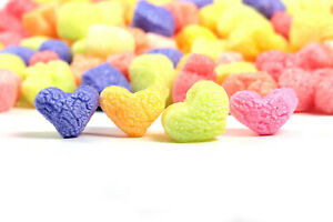 Funpak Packing Peanuts Multi Color Hearts 1 5 Cu Ft Compostable Biodegradable