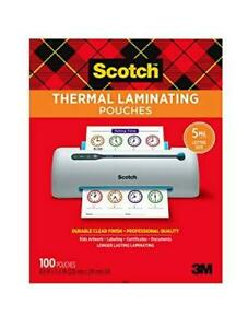 Scotch Thermal Laminating Pouches 5 Mil Thick For Extra Protection 100 pack