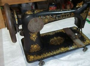 F2 Singer 1901 Treadle Sewing Machine Model 27 Parts Free Shipping Discounts