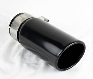 Bolt On Gloss Black Steel Exhaust Tip For Toyota Tacoma Pickup 2005 2021
