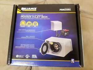 30 amp Non metallic Power Inlet Box Reliance Controls Outdoor Generator Base