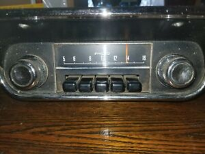 Philco Original Fomoco 1967 1968 Mustang Am Radio With Bezel Part 8tpz 084614