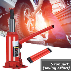 5 Ton Hydraulic Bottle Jack 11023 Lbs Lift Heavy Duty Automotive Car Repair Tool