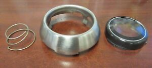 1967 Shelby Original used Steering Wheel Center Button Trim Ring Lens Spring