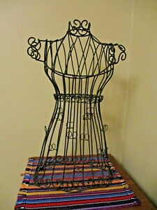 Table Top Metal Mannequin Dress Form Decorative And or Jewelry Display