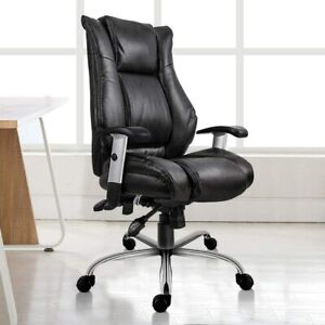Pu Leather High Back Office Chair Executive Task Ergonomic Computer Desk Chair