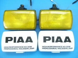 Super Rare At That Time Piaa50 Square Fog Lamp H3 Bulb Vintage Yellow Lens