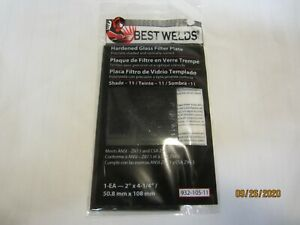Best Welds 932 105 11 Hardened Glass Filter Plate Shade 11 Lots Of 10