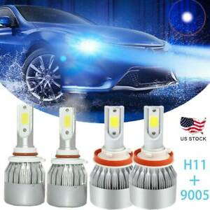 For Mazda 3 2010 2013 4x 8000k Ice Blue Led Headlight Bulbs High Low Beam Kits