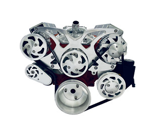 Small Block Chevy Serpentine Pulley Conversion Kit Alt Ps A C Sbc Triangles 2