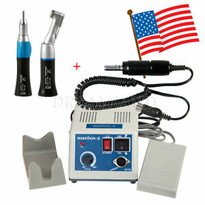 Dental Lab Marathon Electric Micromotor 35k Rpm Polishing Motor Handpiece Black