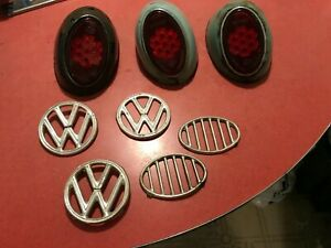 1956 1961 Vw Beetle Tail Lights With Snowflake Lenses