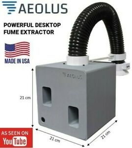 Aeolus Dual Centrifugal Powerful Soldering Fume Extractor Made In The Usa