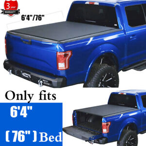 For 19 21 Ram 1500 Roll Up Soft Truck Standard Bed Tonneau Cover W Lock 6 4 76