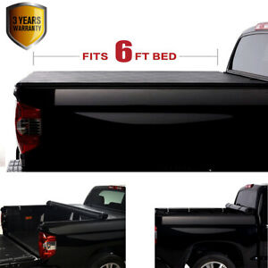 Roll up Pickup Truck Bed Tonneau Cover Fit Toyota Tacoma 6 2016 17 18 19 20 21