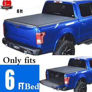 Black Soft Roll up Truck Bed Tonneau Cover Fit 05 20 Frontier 09 12 Equator 6