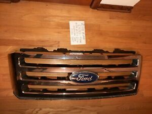 07 14 Ford Expedition Front Upper Radiator Bumper Grille Grill Mesh Chrome Oem