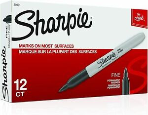 Sharpie Premium Permanent Fine Point Marker Black 30001 12 Each