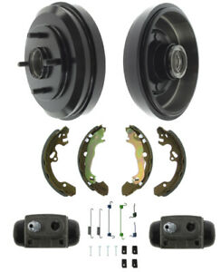 Brake Drums Shoes Cylinders Kit Rear For Ford Focus 2009 11