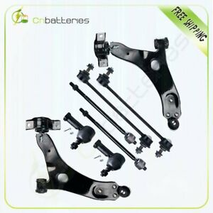 8pc New Front Steering Parts Tie Rod End Control Arm For 2006 2007 Ford Focus