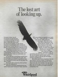 1978 Whirlpool Corp Bald Eagle Lift Your Head Look Up Service Vintage Print Ad