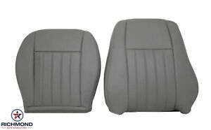 2005 2006 2007 Jeep Liberty Driver Side Complete Leather Seat Covers Gray