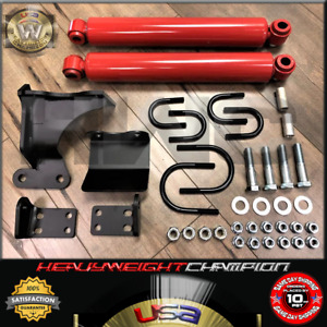 Red Performance Dual Shock Steering Stabilizer Kit For 07 18 Jeep Wrangler Jk