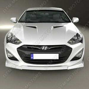 For 2013 2016 Hyundai Genesis Coupe Painted White Ks style Front Bumper Body Lip