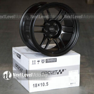 Circuit Cp37 18x9 5 18x10 5 5 114 3 25 Flat Black Wheels Staggered Rpf1 Style