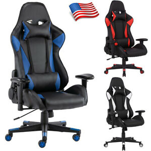 Racing Gaming Chair Ergonomic Executive Computer Desk Swivel Home Office Chair