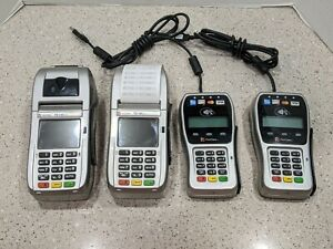 lot Of 2 Sets First Data Fd130 Duo And Fd 35 Pin Pad Credit debit Card Pos