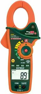 Extech Ex830 1000a True Rms Ac dc Clamp Meter With Ir Thermometer