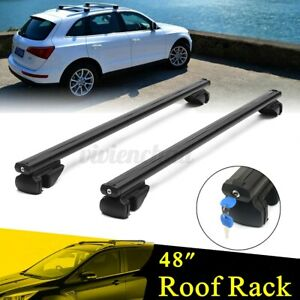 Universal Car Top Roof Rack Cross Bar 48 Luggage Carrier Aluminum W Lock Key