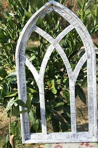 Arched Renaissance Wood Window Frame Display Distressed Weathered Look 29 3 4