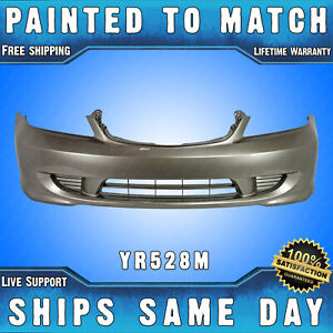 New painted Yr528m Shoreline Mist Front Bumper Cover For 2004 2005 Honda Civic