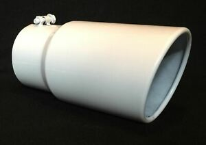 5 Inlet 6 Outlet 12 L Gloss White Diesel Exhaust Tip Ford Powerstroke