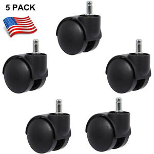 5 Pcs Replacement Swivel Office Chair Wheels Casters Universal Fit Set Of 5
