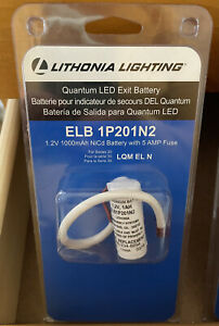 Lithonia Lighting Elb 1p201n2 Quantum 1 2 volt Exit Sign Replacement Battery