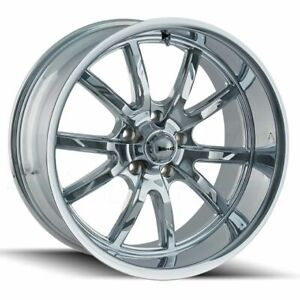 15x7 15x8 Ridler 650 5x114 3 0 0 Chrome Wheels Rims Set 4