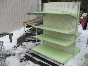 Large Lot Used Gondola Shelving Retail Store Metal Fixtures Grocery Shelves