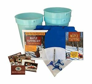 Deluxe Maple Tree Tapping Kit 3 3 Gal Sap Buckets Lids 3 Taps With Ho