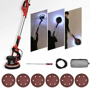 Electric Drywall Sander 800w 5 Speed Vacuum Dust Collection System 6 Sand Pads