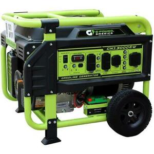 Green power America 13 000 Watt Gasoline Portable Generator W Electric Start