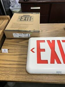 Dual lite Exit Sign With Battery Backup 93048322 Eveurwei